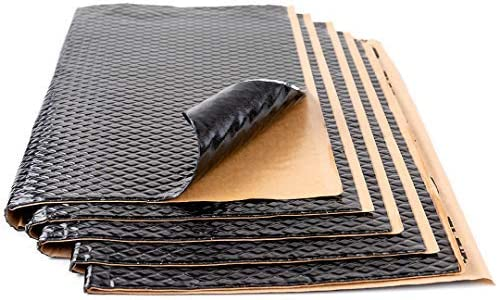 Noico Black 80 mil 18 sqft Car Sound Deadening Mat Butyl Automotive Sound Deadener Audio Noise Insulation and Dampening