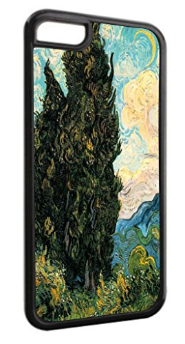 Artist Vincent Van Gogh's Cypresses Black Plastic Apple iPhone 7 Plus (7+) Case Made in the - Cypress Outlet In