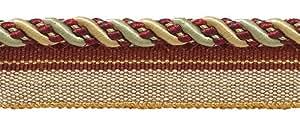 """Tamaño mediano dorado, vino, menta verde 4/16""""Imperial II Cable de labio estilo # 0416i2vacaciones esplendor–3752(se vende por el patio)"""
