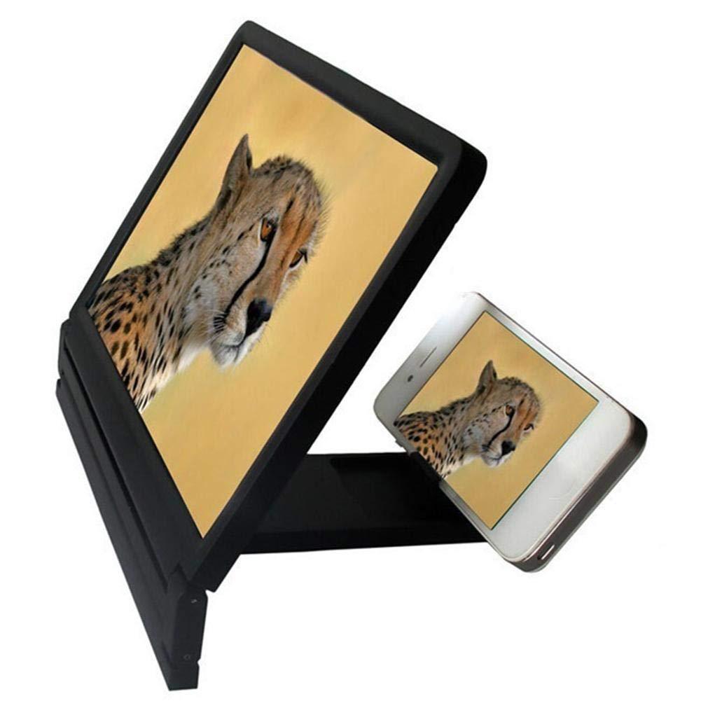 3D Mobile Pantalla del Telefono Lupa Amplificador Port/átil de Pantalla del Tel/éfono M/óvil de Alta Definici/ón 3D Mobile Pantalla del Telefono Lupa Amplificador de Video HD para Telefonos Inteligentes