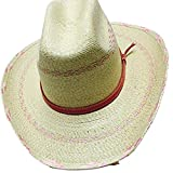 Atwood Kid's Pink Pinto Palm Leaf Hat - Size Medium