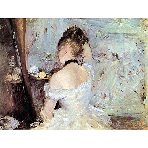 - Wee Blue Coo Berthe Morisot Lady Toilet Old Master Painting Unframed Wall Art Print Poster Home Decor Premium
