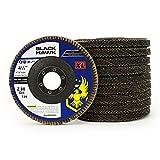 10 Pack - 4.5'' x 7/8'' XL High Density Zirconia Flap Discs Jumbo Grinding Wheels Type 29 (80 Grit)…