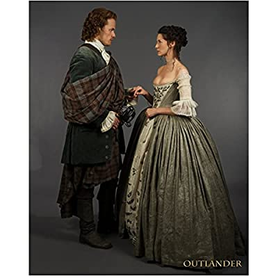Sam Heughan as Jamie Fraser in Outlander with Caitriona Balfe 8 x 10 inch Photo