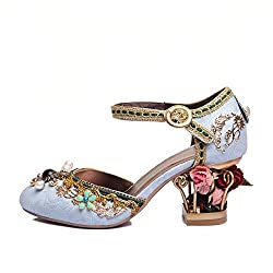 High Heel Shoe With Flower Pearl