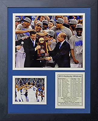 "2012 Kentucky Wildcats Champions - Podium 11"" X 14"" Framed Photo Collage By Legends Never Die, Inc."