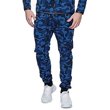 Pantalones Vaquero para Hombre, Camuflaje Pantalones Casuales Moda ...