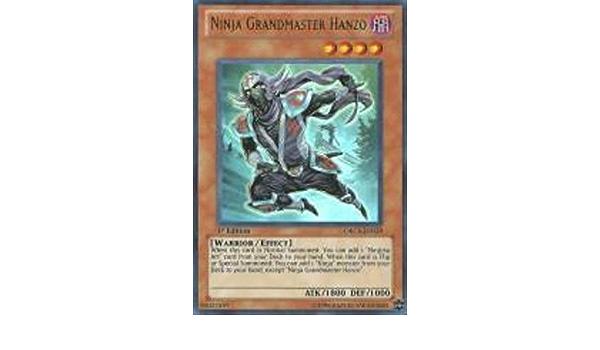 X1 YUGIOH NINJA GRANDMASTER HANZO CT09-EN003 SECRET RARE LE