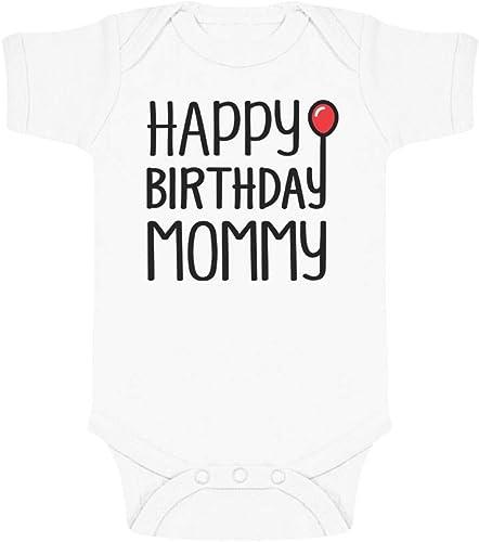 Body de Manga Corta para beb/é Happy Birthday Mommy Regalo Original para mam/á en su cumplea/ños