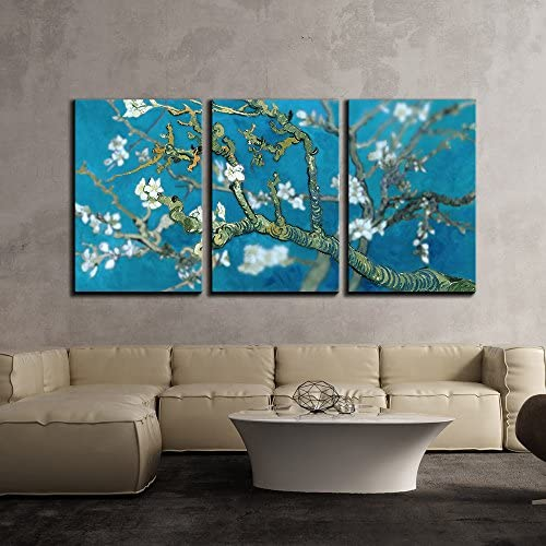 Van Gogh's Masterpiece Almond Blossoms Retouched x3 Panels