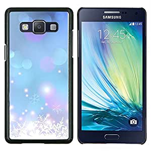 Eason Shop / Premium SLIM PC / Aliminium Casa Carcasa Funda Case Bandera Cover - Flocon de neige bleu de Noël - For Samsung Galaxy A5 ( A5000 ) 2014 Version
