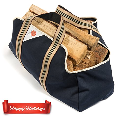 Smiling Hosts Firewood Log Carrier - Heavy Duty Log for sale  Delivered anywhere in USA