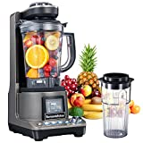 Bonsenkitchen High Speed Vacuum Blender, Multifunctional Food Processor and Smoothie Blender, 1500W Powerful Anti-Oxidation Mixer for Smoothies, Shakes and Frozen Drinks