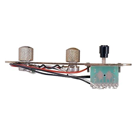 Dolity Láminas de Controles para Tablas TL Guitarra Eléctrica Interruptores 3 Formas Volumen Tono - Cobre