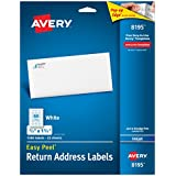 Avery Easy Peel Inkjet Return Address Labels, 2/3 x 1-3/4, White, 1500/Pack (8195)
