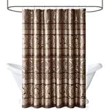 Madison Park Bellagio Taupe Shower Curtain, Transitional Shower Curtains for Bathroom, 72 X 72, Beige
