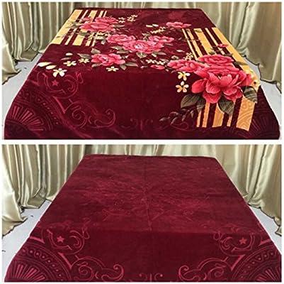 Korean Jacquard Mink Blanket 13 Lbs Queen Premium Made in Korea 2 Ply