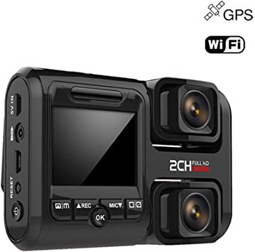 360 Panorama Car Dash Cam Double 1080p Full Hd Lens Wifi And Gps Dvr With Wide Angle Loop Recording G Sensor Motion Detection Auto