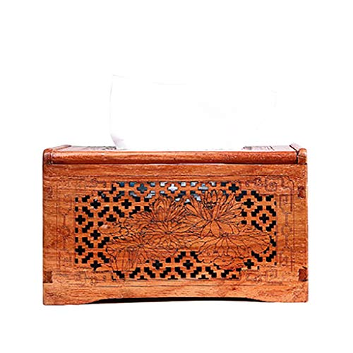 Burmese Rosewood Tray Paper Table Solid Wood Tissue Box Mahogany Coffee Table Large Fruit Rosewood Napkin Box Storage Box GAOLIANGLIANG (Color : B)