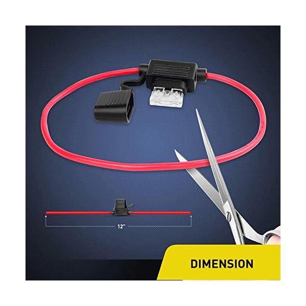 51rKX90Q6vL Gebildet KFZ Sicherungen Set 120 Stücke Klein Auto Sicherungen, Autosicherung Flachsicherung 16mm, Auto Stecksicherung…