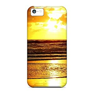 Defender Case With Nice Appearance (sunset On The Beach) For Iphone 5c