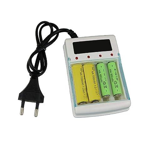 Bloomma Display Cargador de batería Universal Speedy AA/AAA ...