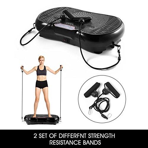 GENKI Fitness Vibration Platform Workout Machine Whole Full Body Shape Exercise Training Power Plate (Black) by GENKI (Image #4)