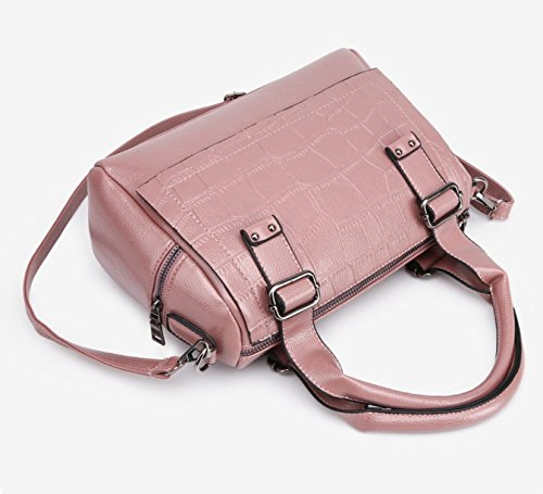 Pattern Black Bag Meaeo Fashion Shoulder Women Crocodile Embossed Pink New Handbag Pattern F4EHaHnW