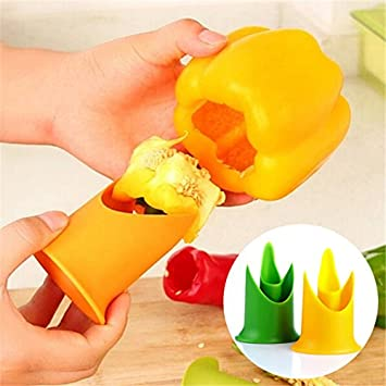 Image result for 2-in-1 Pepper Chili Bell Jalapeno Seed Remover And Slicer