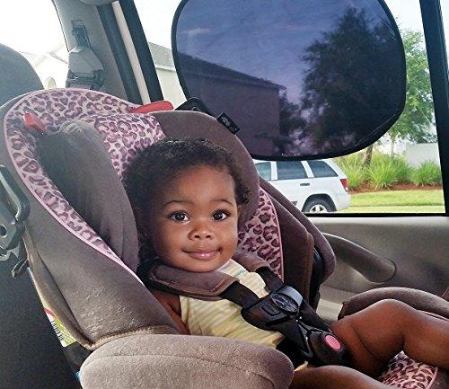 Baby Sun Shades 2 Pack - No Suction Cups - Car Windows Shade