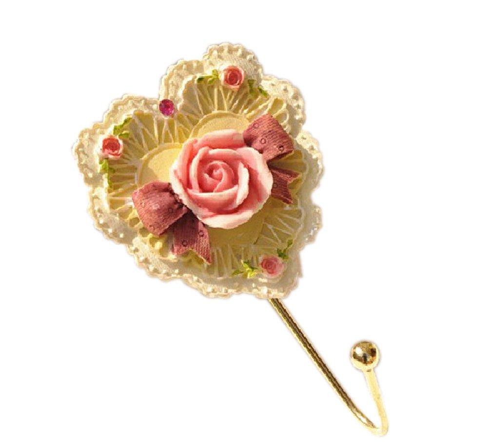 UniDecor Christmas Gift Resin Pink Love Shape Hooks Hardware Children Room (Length: 4.53inch 115mm)