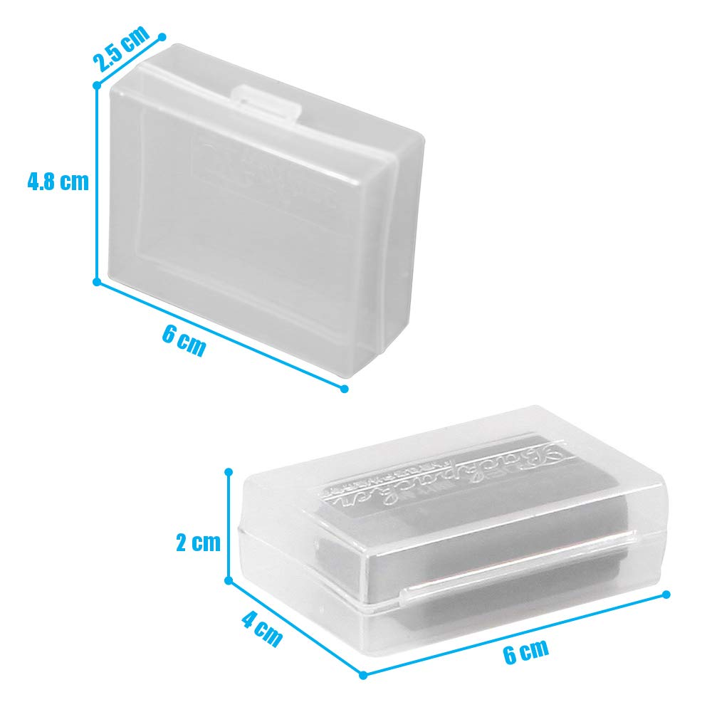 5pcs/Lot Translucence Plastic Case for DSLR Battery Canon LP-E8 LP-E6 LP-E5 BP-511A Nikon NB-10L EN-EL9 Sony CRV3 Pentax LI90 - (Color: 25x48x60mm) Xennos