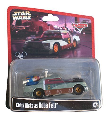 Disney Star Wars Pixar Cars Chick Hicks as Boba Fett 1/55 Die-Cast Series 2 - Theme Park Exclusive Limited Edition (Chick Hicks Boba Fett)
