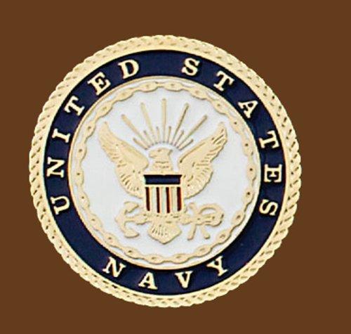 US Navy Belt Buckle, Round, 2-3/4