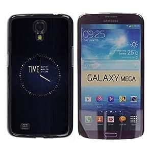 TopCaseStore / la caja del caucho duro de la cubierta de protección de la piel - Clock Black Minimalist Busy - Samsung Galaxy Mega 6.3 I9200 SGH-i527