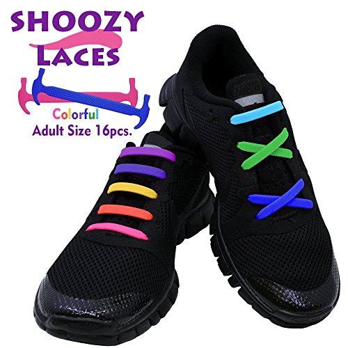No Tie Shoelaces for Kids, Men & Women | SHOOZY | Waterproof & Stretchy Silicone Tieless Shoe Laces | for Hiking Boots Sneaker & Casual Dress Athletic Shoes | Eliminate Loose Shoelace Accidents