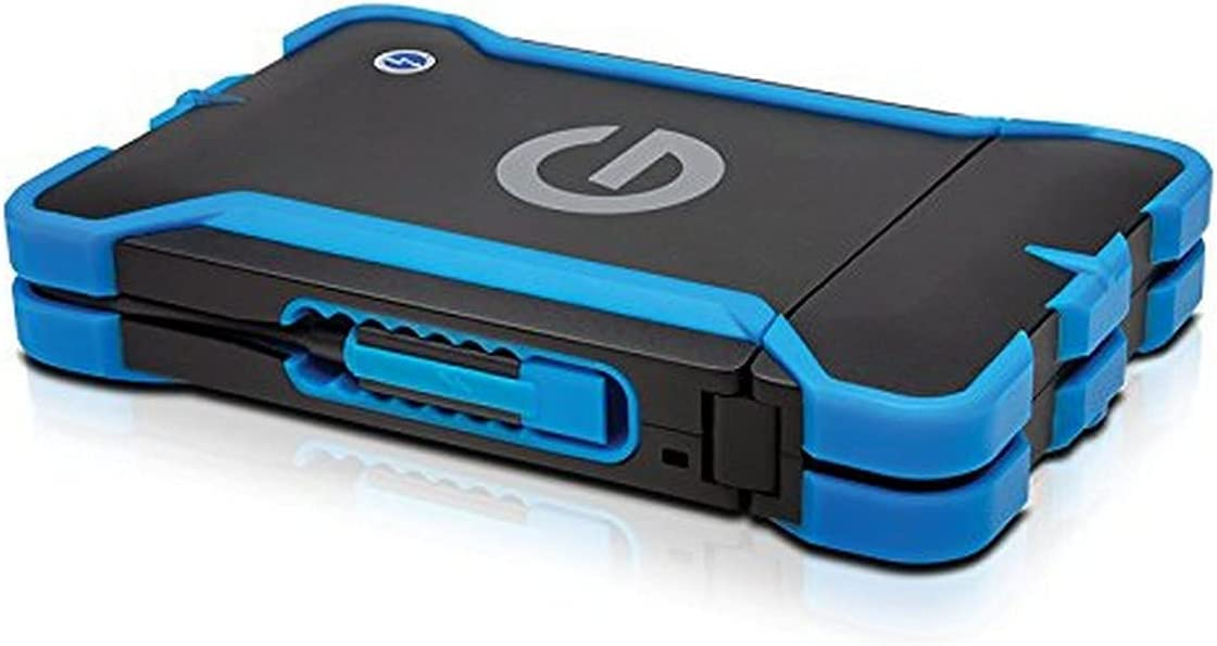 G-Technology 1TB G-DRIVE ev ATC Portable External Hard Drive with tethered Thunderbolt cable - All-Terrain Drive Solution - 0G03586-1