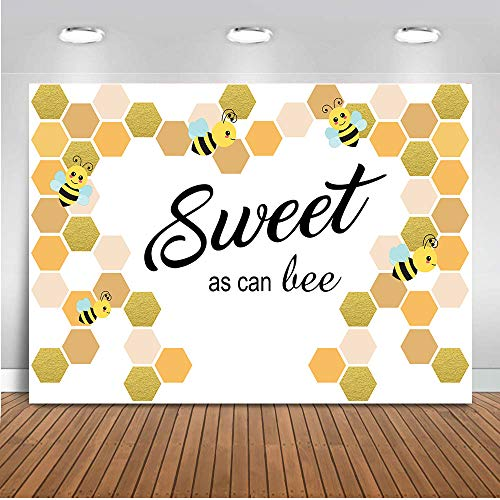 COMOPHOTO Sweet As The Bee Backdrop for Photography Newborn Baby Shower Photo Background Birthday Party Decoration Banner 7x5ft Fabric