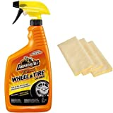 Kyпить Armor All 78011 Extreme Wheel and Tire Cleaner - 32 fl. oz. with 3 AmazonBasics Thick Microfiber Cleaning Cloths на Amazon.com