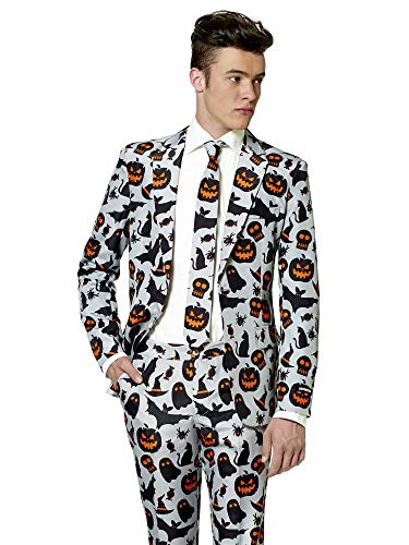 Suitmeister Halloween Costumes for Men - Grey Icons - Include Jacket Pants & Tie