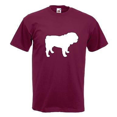 KIWISTAR - Englische Bulldogge Hunderasse T-Shirt in 15 verschiedenen Farben  - Herren Funshirt bedruckt