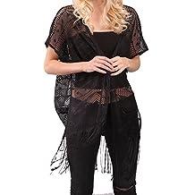 Women's Fashion Sleeveless Asymetric Hem Open Front Vest Waistcoat Cardigan Cover Up