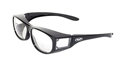 fa2c2364d3a Amazon.com  Global Vision Safety Fit Over Glasses (Black Frame Clear ...