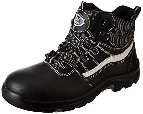 Allen Cooper AC-1426 High Ankle Heat Resistant Safety Shoe, PU NR Sole, Black, Size 9 Price & Reviews