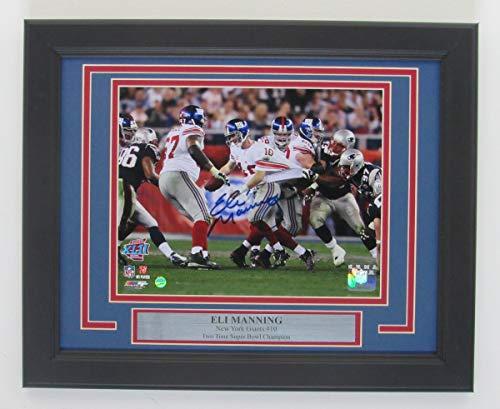 Eli Manning Giants Signed/Framed 8x10 Color Photo Steiner 141810