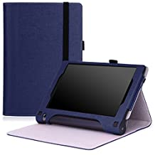 Lenovo Yoga Tab 3 8 Case - MoKo Slim Folding Cover Case for Lenovo Yoga Tab 3 8 Inch 2015 Tablet, INDIGO