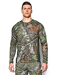 Under Armour Men's Tech Scent Control Long Sleeve T-Shirt, Realtree Max 5/Dynamite, XXX-Large