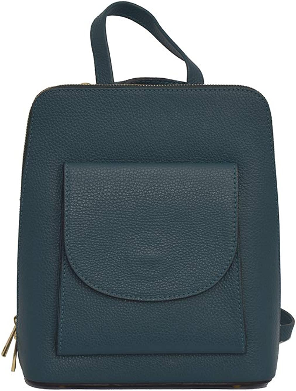 A to Z Leather Mochila 3 en 1 Backpack/Mochila bandolera o mochila cruzada. Auténtico cuero italiano. Gasolina