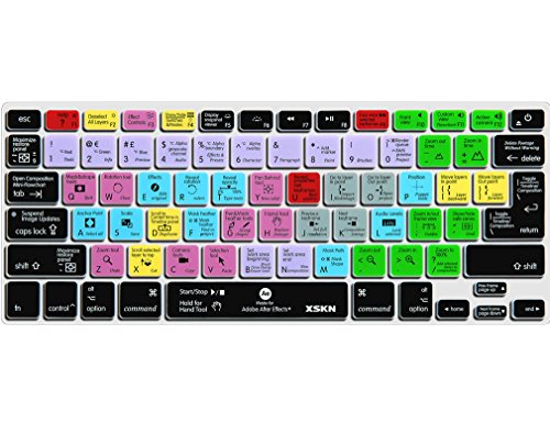 XSKN After Effects Keyboard Silicone Skin Cover for MacBook Air 13, Pro 13, 15, 17 and Wireless keyboard