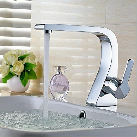 Bathroom Sink Taps Single Handle Brass Chrome Plated Hot and Cold Basin Faucet Bathroom Sink Faucet Bathroom Faucets